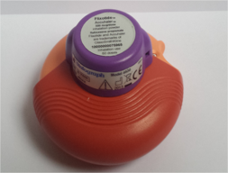 Inhaler with INCA™ device attached