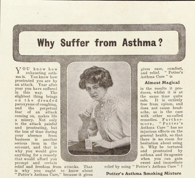 "L0040548 Flyer and advert for ""Potter's Asthma Cure"""